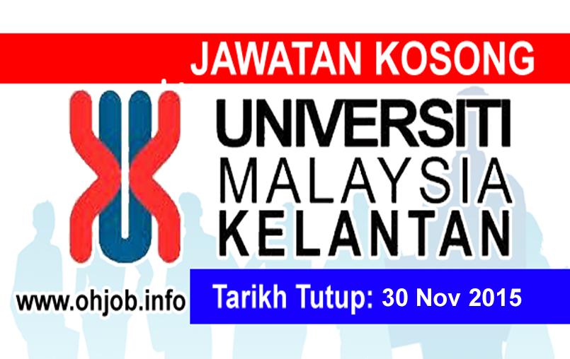 kerja kosong universiti malaysia kelantan umk jawatan