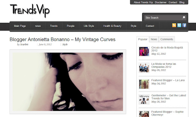 My blog for curvy women got feautured on Trendvip
