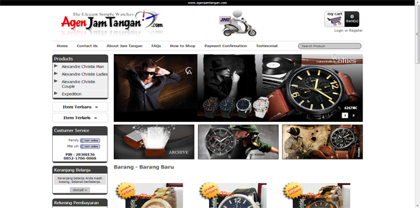 Jam Tangan, polisi online