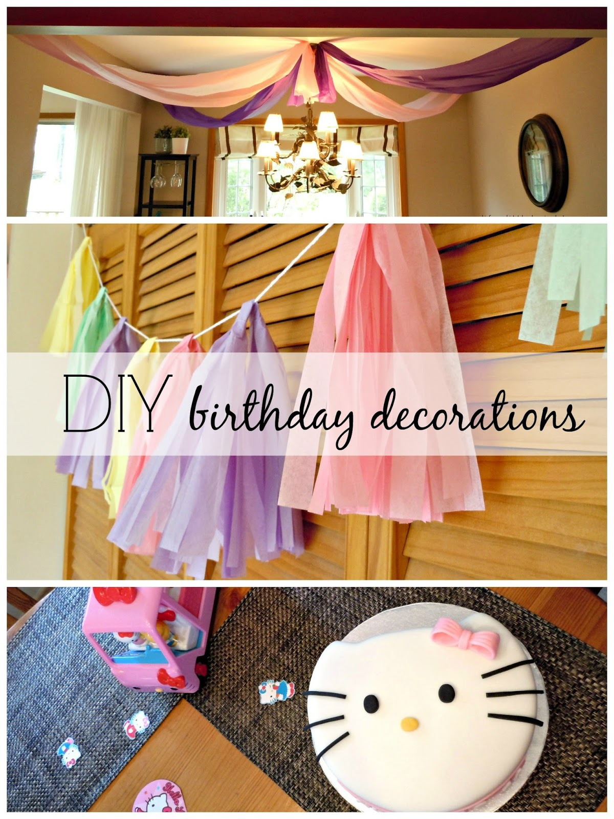 Birthday party diy decorations life a little brighter for Diy birthday party decorations for adults