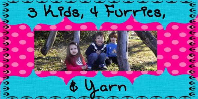 Three Kids, Four Furries, and Yarn