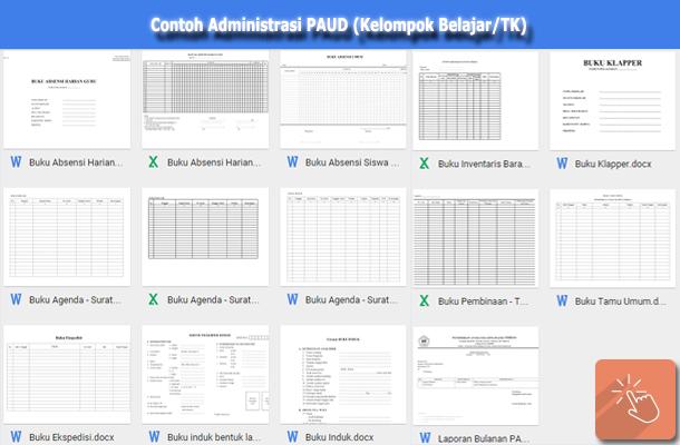 Contoh Berkas Administrasi PAUD (Kelompok Belajar/TK)