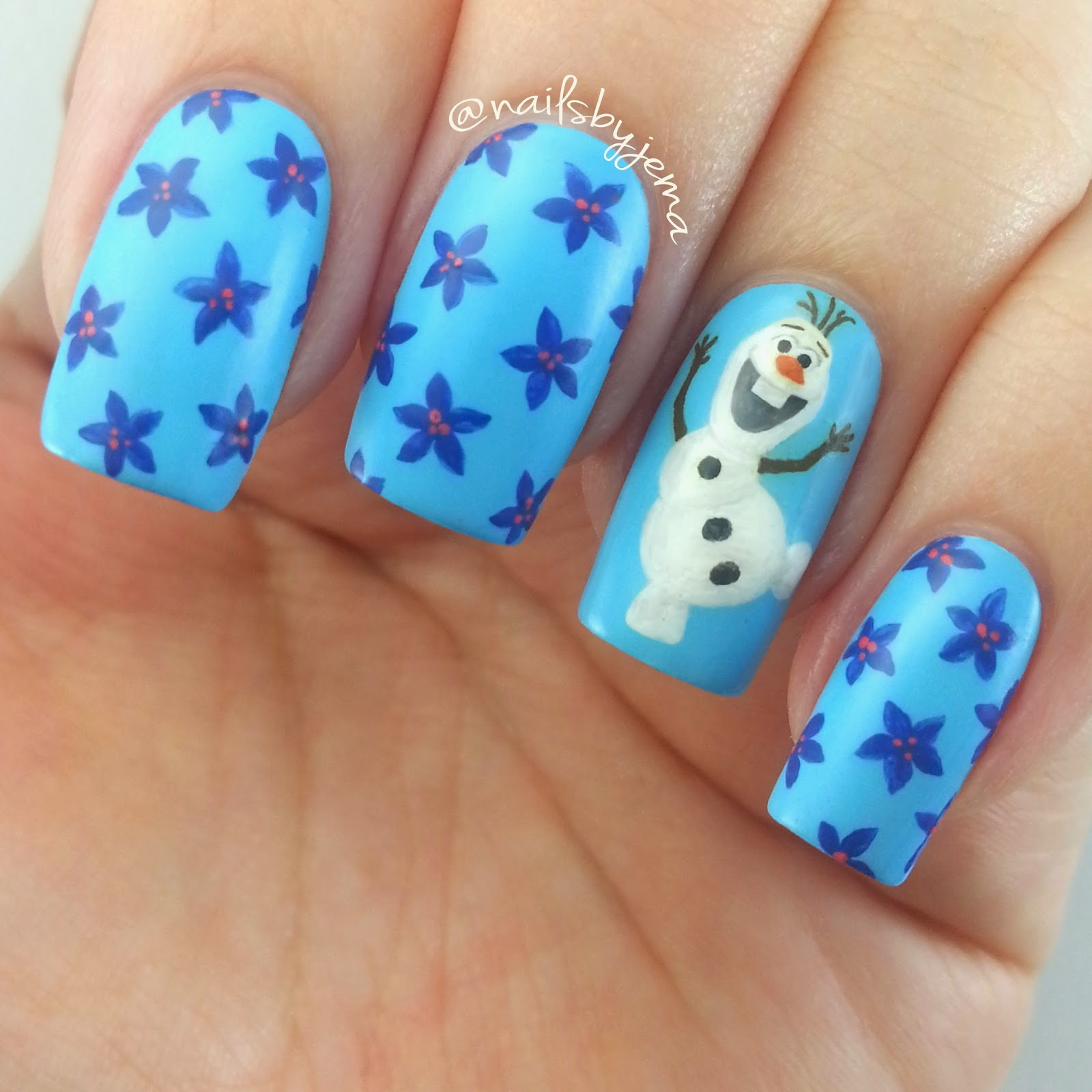 Nails by jema olaf frozen nail art frozen nail art prinsesfo Images