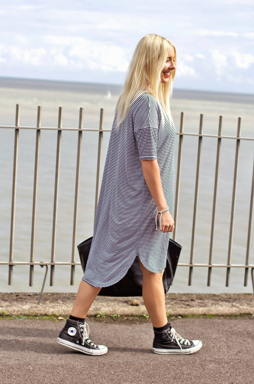 OVERSIZED T-SHIRT DRESS - Petite Side of Style