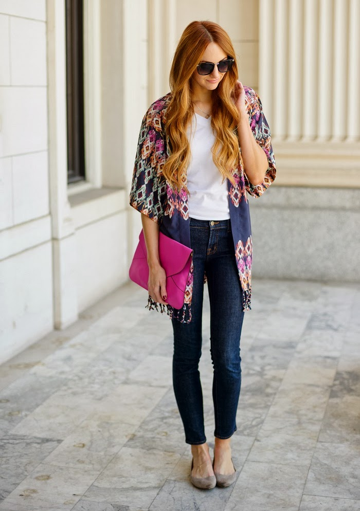 Kimono outfit ideas. Kimono is the latest hot trend. It is basically a long, sheer, jacket kind of clothing inspired by traditional Japanese dressing. One may think kimono jackets or cardigans can only be worn in winters, but that is not true. Kimono outfit ideas. Kimono is the latest hot trend.