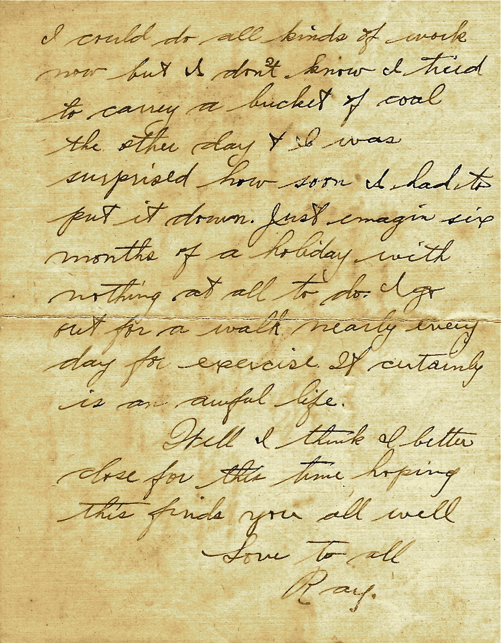 Letters From World War One February 20 1919 Military