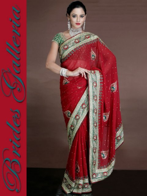 Brides Galleria Red  Bridal Sarees 2013