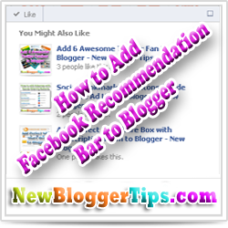 Add Facebook Social Recommendation Bar easily to Blogger