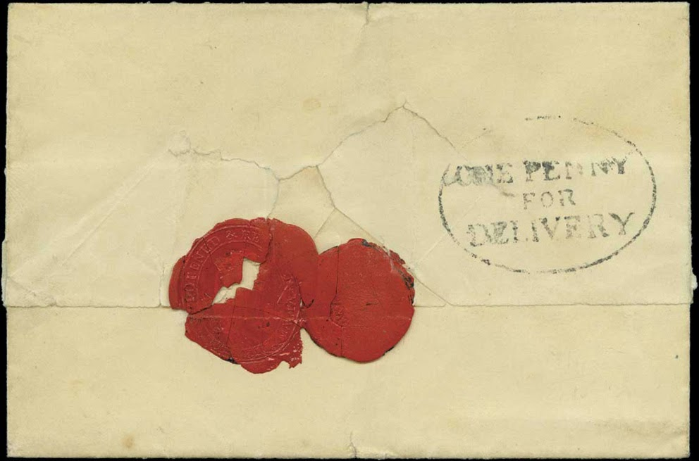 The lothians the art of letter writing early 19th century style the wax seal on a letter from 1836 source grosvenor auctions thecheapjerseys Gallery