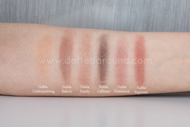 nabla creme shadow swatch ombretti
