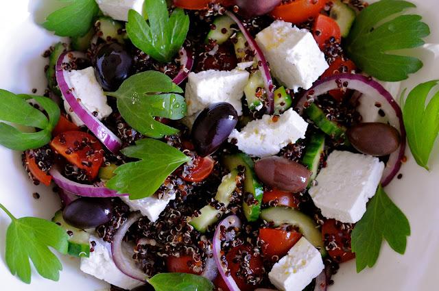græsk salat med quinoa