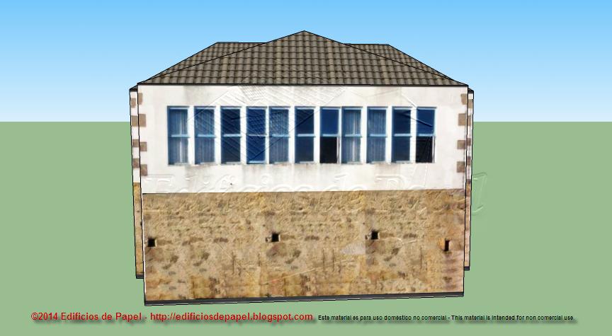 Detalle de la fachada lateral