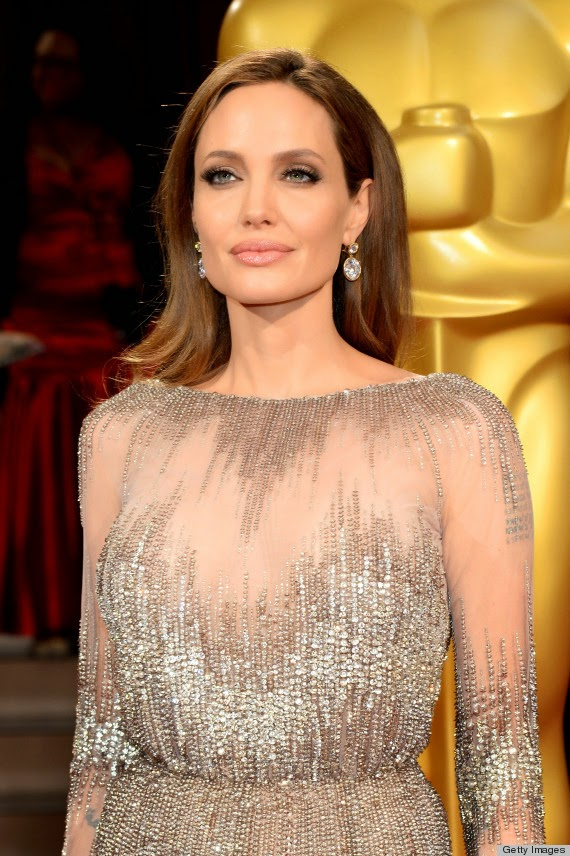 Angelina Jolie at the 2014 Oscars