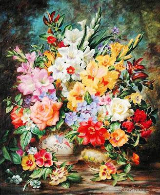 pinturas-realistas-de-flores-al-oleo