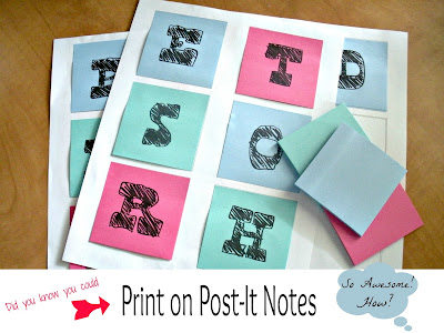 DIY How it print on Post-It Notes