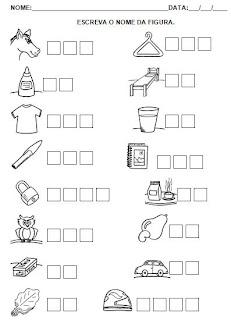 Atividades de Alfabetização - Hipótese de Escrita - Atividade para Imprimir 3