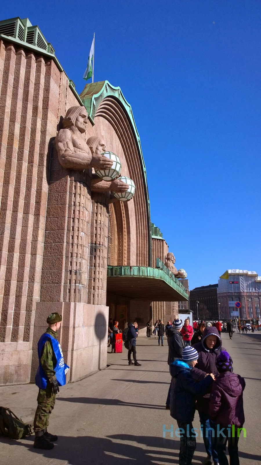Lantern Men at Helsinki's Main Station