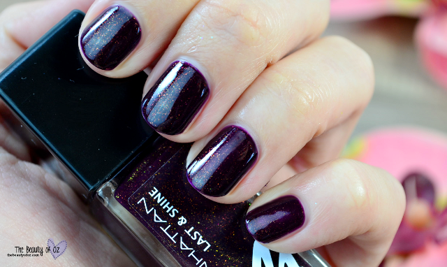 Manhattan Last And Shine Nail Polish Moscow Night 760 Swatch