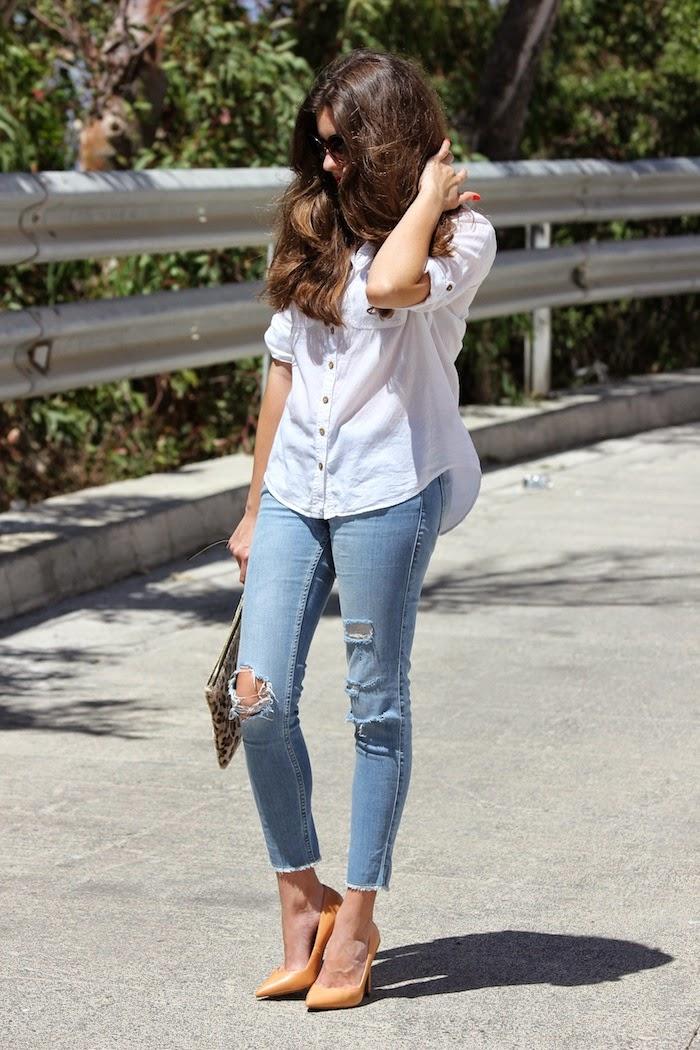 camisa_ shirt_blanca_suitblanco_jeans_vaqueros_rotos_zara_2014_outfit_salones_camel_bolso_leopardo_leopard_lefties_angicupcakes01