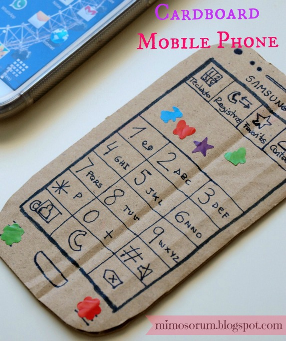 Carboard Mobile Phone.Mimosorum
