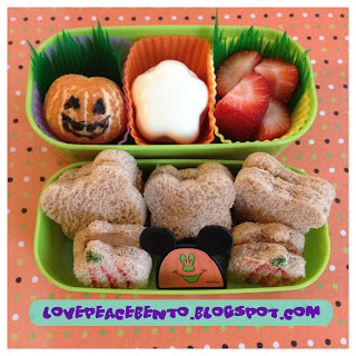 Mickey Mouse Halloween bento lunch for kids
