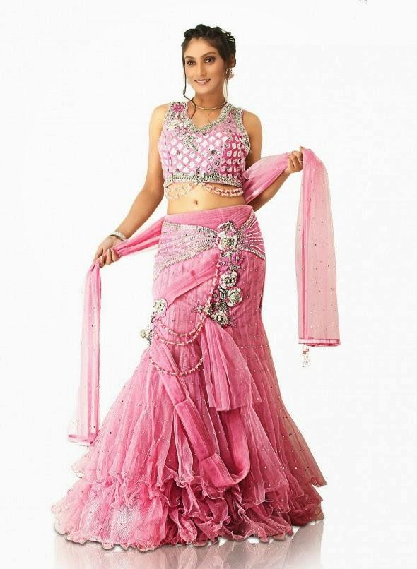 Bridal lehenga sarees 2015