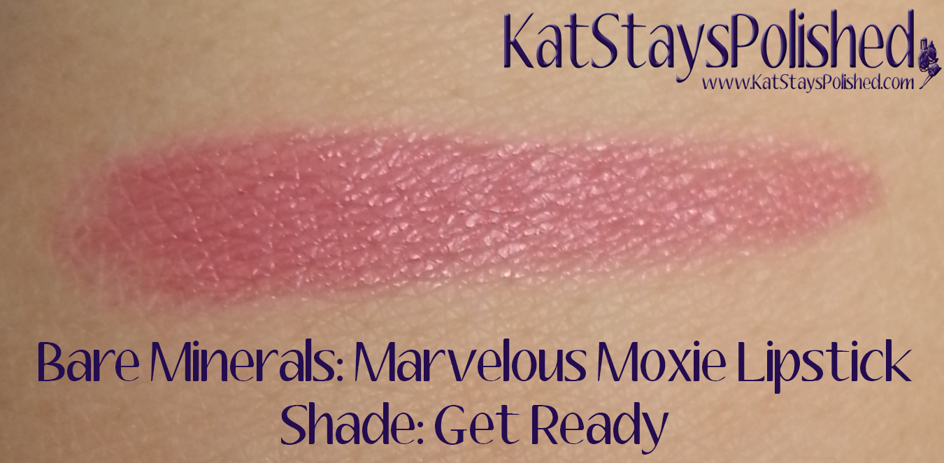 Ipsy Glam Bag: March 2014 - Bare Minerals Marvelous Moxie Lipstick - Get Ready | Kat Stays Polished