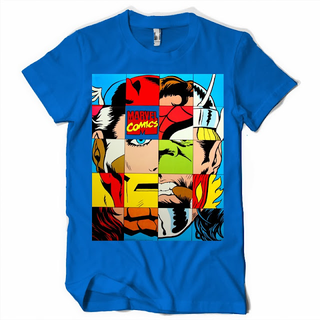 marvel collage tshirt