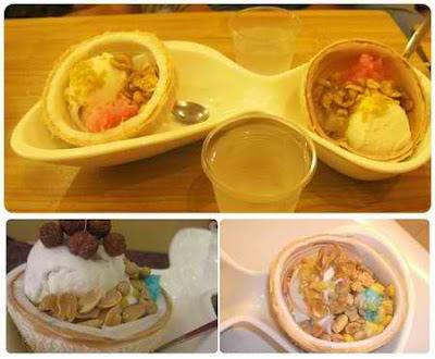 Ngon với món kem xôi dừa Thái, món ăn vặt, diem an uong 365