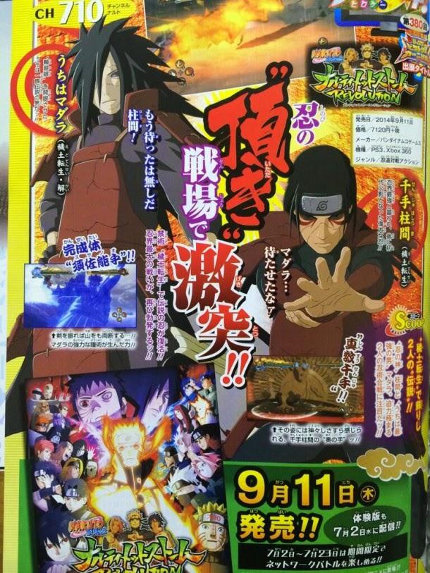 Madara Uchiha y Hashirama serán personajes jugables en Naruto Shippuden: Ultimate Ninja Storm Revolution