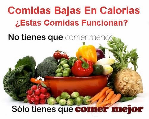 Comidas bajas en calorias estas comidas funcionan - Comida para dieta adelgazar ...
