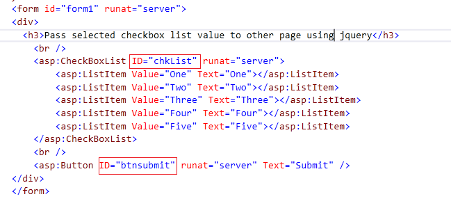 Get Checkboxlist Selected Value using jQuery