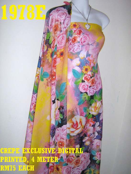 CDP 1978E: CREPE EXCLUSIVE DIGITAL PRINTED, 4 METER