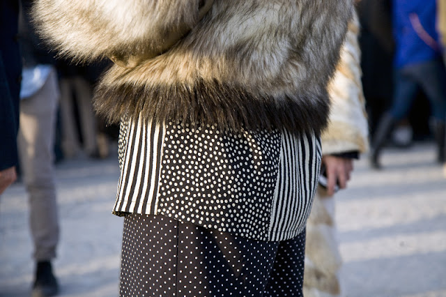 fur and dots street style