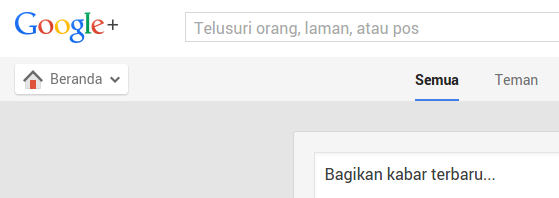 contoh tampilan website plus.google.com