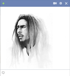 emoticon bob marley reggea