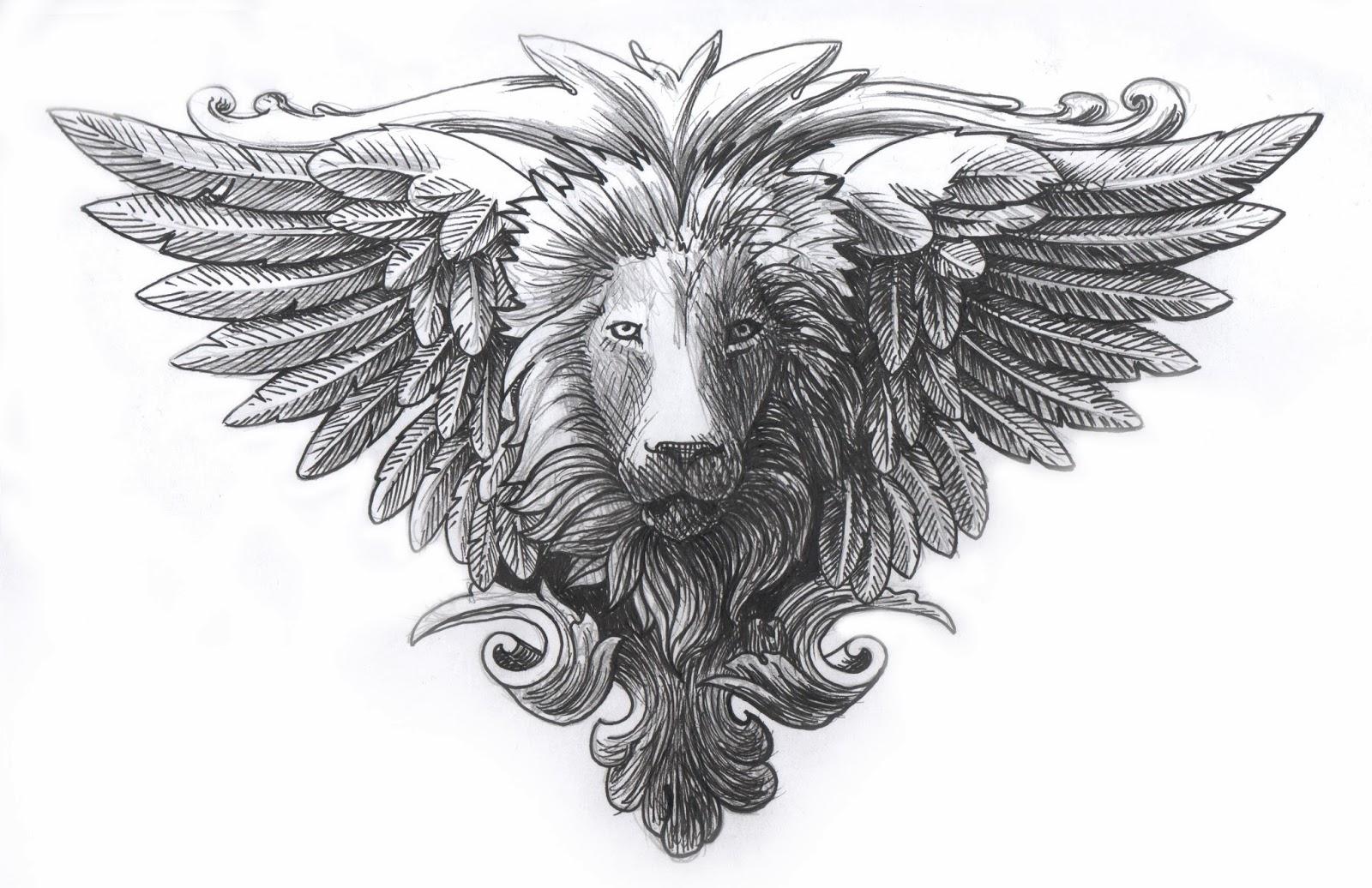 je continue de dessiner dur quelques projets en vue et des choses vraiment bien plus pour le moment je vous prsente un lion ail faon armoiries du