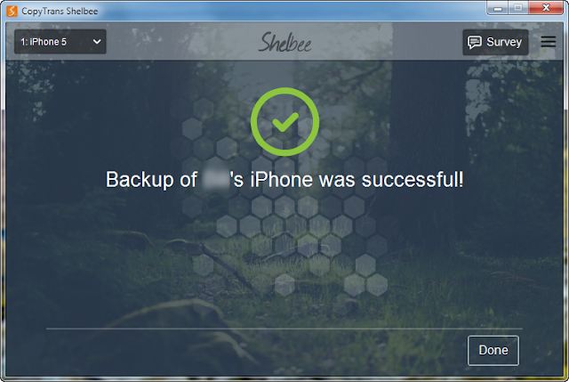 iphone content backup elements listed