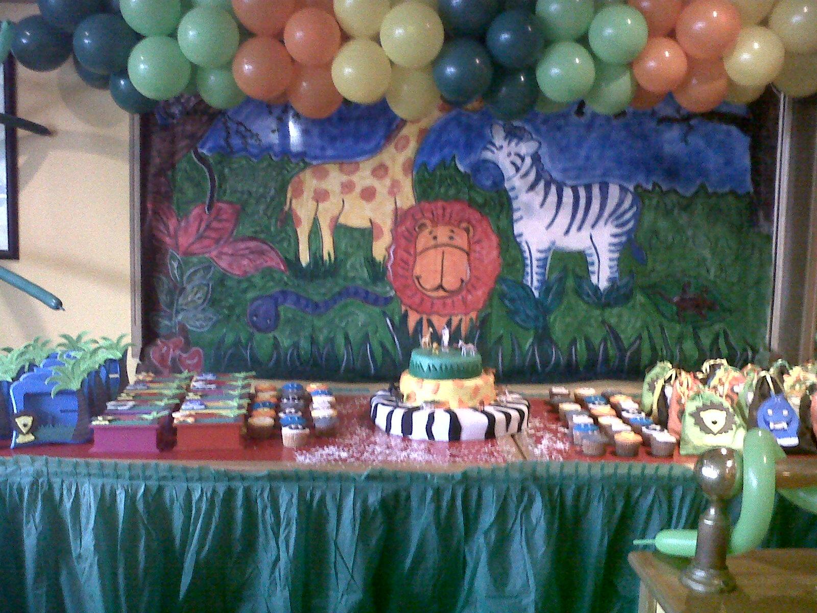 Decoración de Fiesta Infantiles: Fiesta de Animalitos de la Selva
