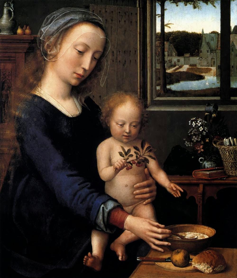 Virgen de las sopas de leche. Gerard David