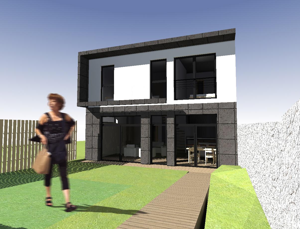 Maison bbc bois meudon architecte maison bois paris for Maison en bois bbc