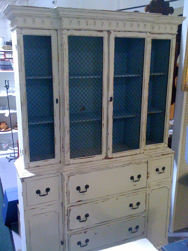 I Distressed The Cabinet In All The Right Places Even The Interior. She Is  Dressed Up In Her Original Hardware.