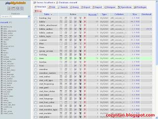 Database senayan