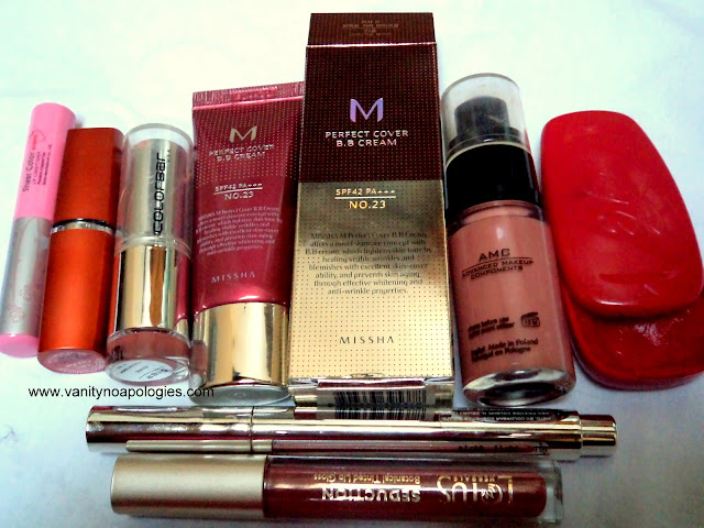missha bb cream inglot lip ice makeup favourites