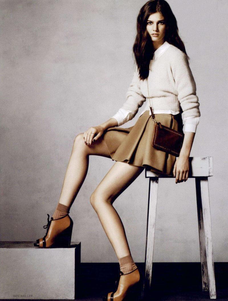Kendra Spears in Vogue UK August 2010 (photography: Ben Weller, styling: Emma Elwick-Bates & Verity Parker)