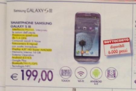 In offerta a prezzo sottocosto il Galaxy S3 di Samsung a 199 euro