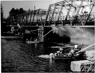 deer island bridge fire 1965