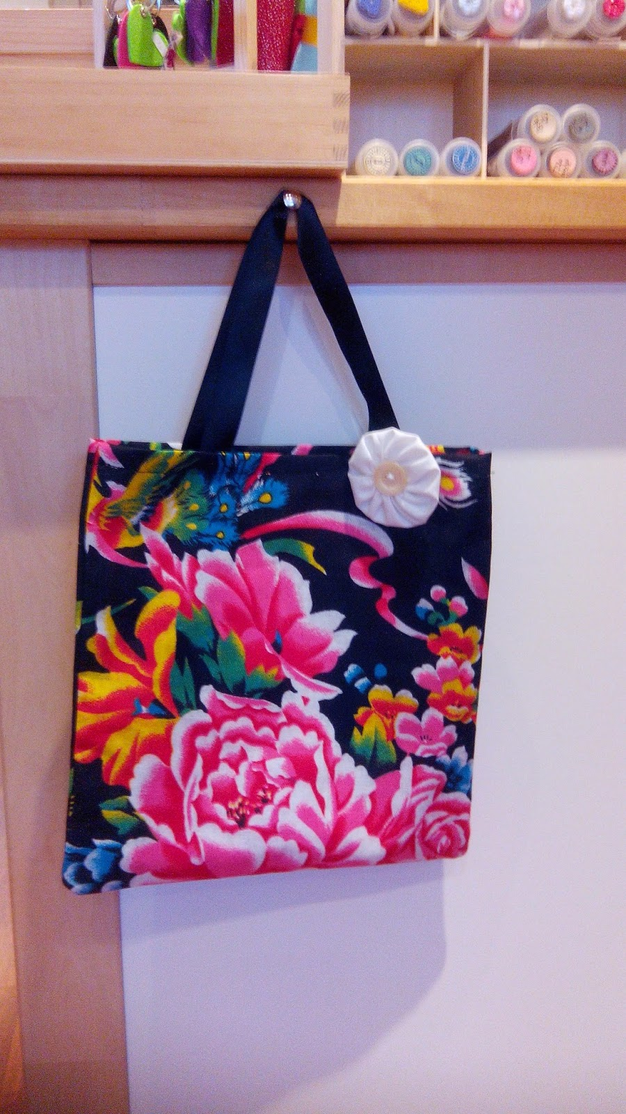 Couture en atelier tote bag chinois