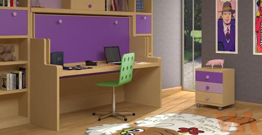 Muebles de interiores decoractual dise o y decoraci n for Dormitorios juveniles con escritorio incorporado