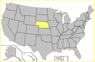 Mapa Nebraska